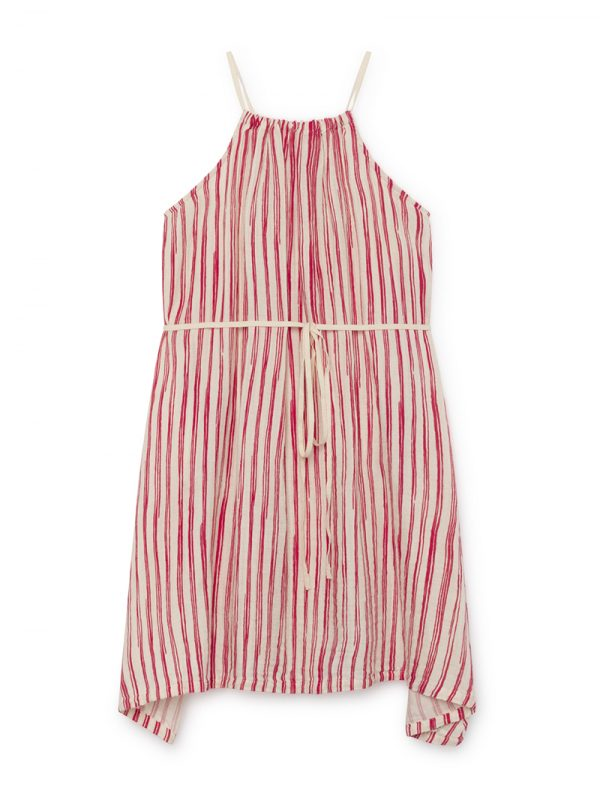 Bamboo Striped Apron Dress