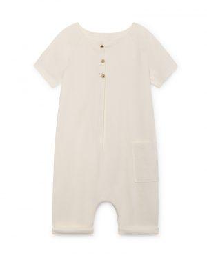 ZEN Short-Sleeved JumpSuit, chalk