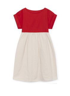 Origami T-Shirt Dress scarlet