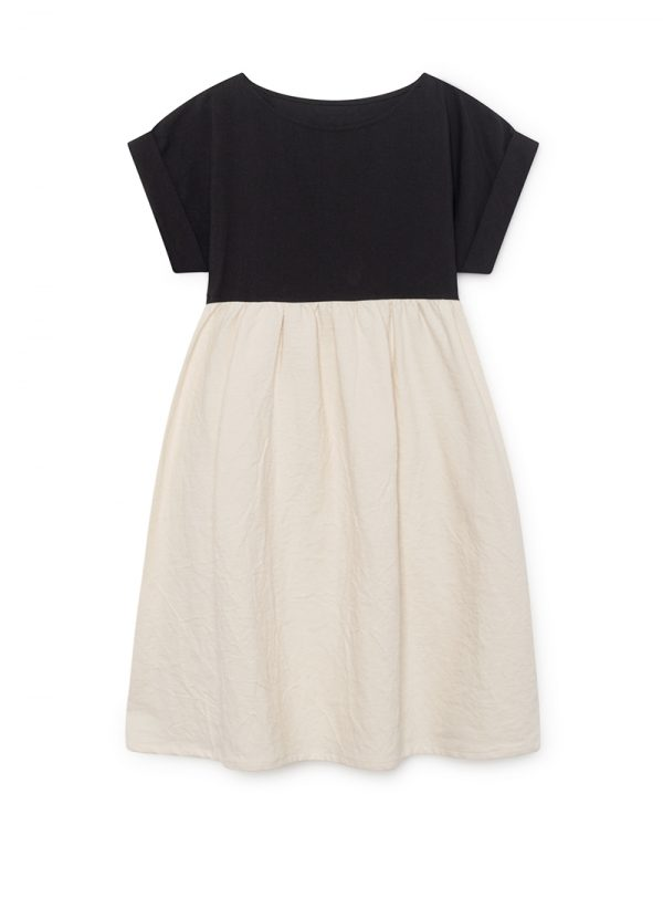Origami T-Shirt Dress Woman black